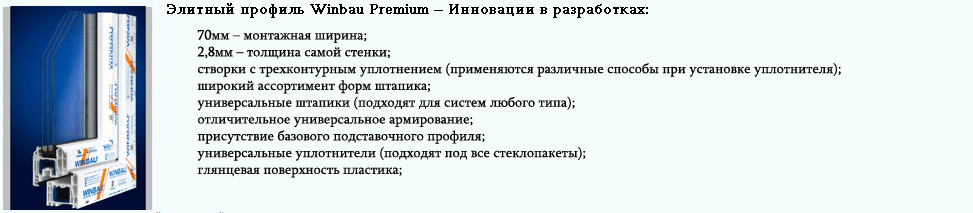 Элитный профиль Winbau Premium Харьков